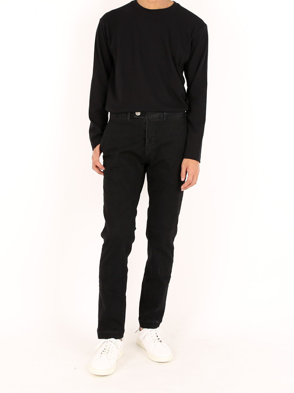 Courteous Jean,Black - 커티어스 진,블랙 (Slim Straight Fit) [JMJ-10-1(S)]